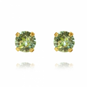 Classic Stud Earrings Gold, Chrysolite
