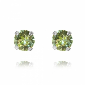 Classic Stud Earrings Silver, Chrysolite