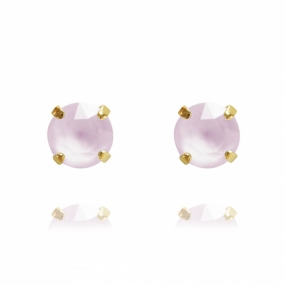 Classic Stud Earrings Gold, Powder Rose