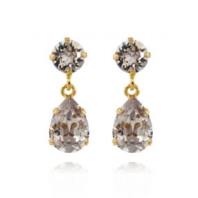 Mini Drop Earrings Gold, Smoky Mauve