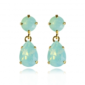 Mini Drop Earrings Gold, Pacific Opal