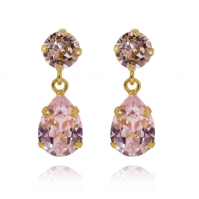 Mini Drop Earrings Gold, Rosaline