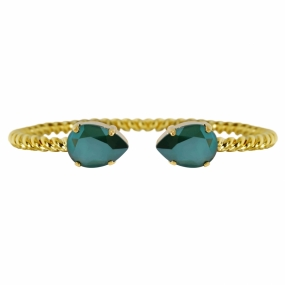Mini Drop Bracelet Gold, Royal Green
