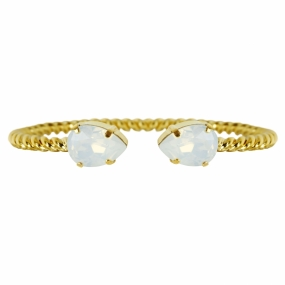 Mini Drop Bracelet Gold, White Opal