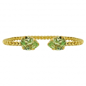 Mini Drop Bracelet Gold, Chrysolite
