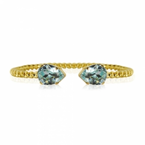 Mini Drop Bracelet Gold, Light Azure
