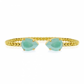 Mini Drop Bracelet Gold, Pacific Opal