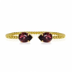 Mini Drop Bracelet, Gold & Burgundy