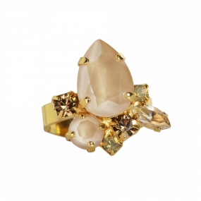Nami Ring, Gold & Ivory Cream