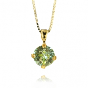 Classic Petite Stud Necklace Gold, Chrysolite