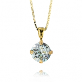 Classic Petite Stud Necklace Gold, Light Azure