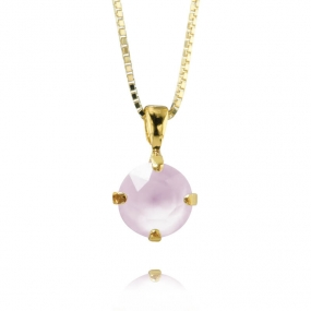 Classic Petite Stud Necklace Gold, Powder Rose