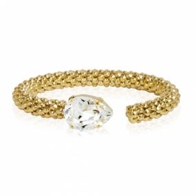 Classic Rope Bracelet Gold, Crystal