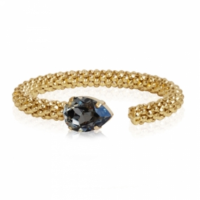 Classic Rope Bracelet, Gold & Black Diamond