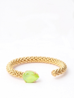 Classic Rope Bracelet, Gold & Lime
