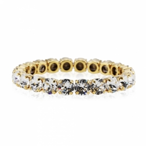 Classic Stretch Bracelet Gold, Crystal