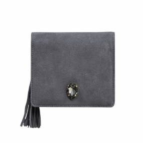 Cocktail Bag Small, Dark Grey & Black Diamond