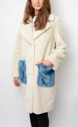 CAMILLE COOCON COAT, PEARL SAND
