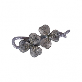 Lucky Flower Pin, Grey
