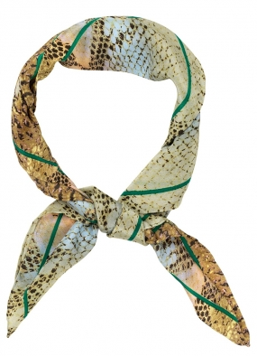 GINIA SCARF, PEPPER GREEN