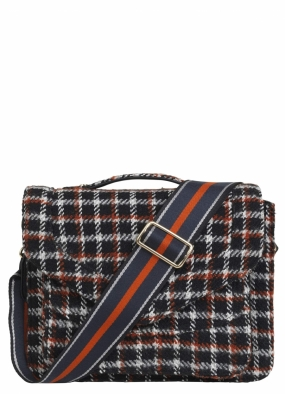 Mara Check Bag, Black