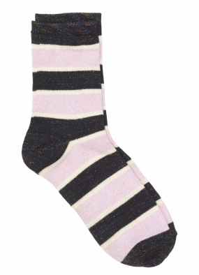 Dory Stripe Socks, Rose