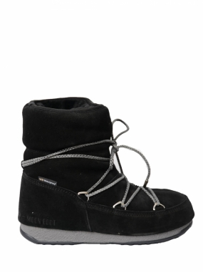Moon Boot Low Suede WP, Black