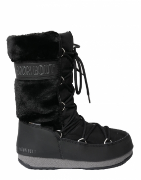 Moon Boot Monaco Hi Fur, Black