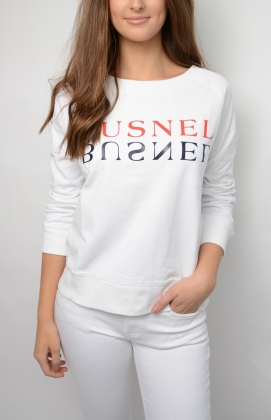 Rochelles Text Sweatshirt, White