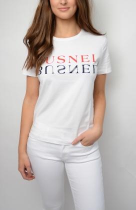 Tours Text T-shirt, White