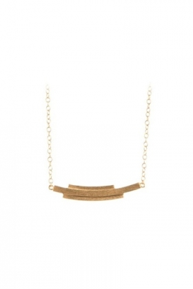 Brick Curve Necklace Gold Plated