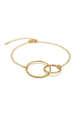 Double Plain Bracelet Gold Plated