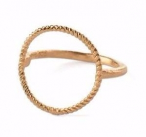 Twisted Open Coin Ring Gold Plated