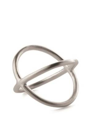 Pernille Corydon. Crossed Ring. Silver