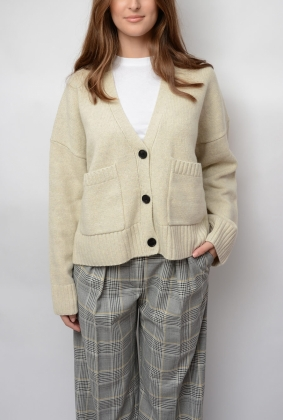 BRIENNE CARDIGAN, LIGHT MEL GREY