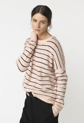 ANDOLES SWEATER, LINEN ROSE