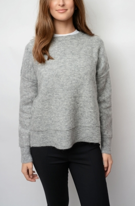 Biagio Sweater, Med Grey Melange