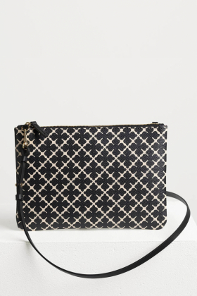 Ivy Purse, Black & Cream