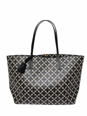 Abigail Tote, Black & Cream