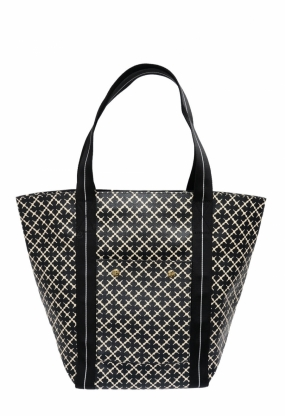 Lola Tote, Black & Cream