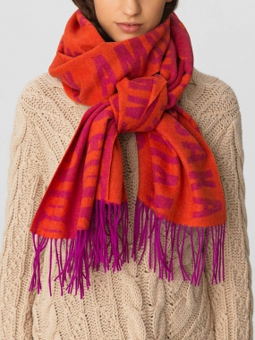 CLAUDETTE SCARF, CLEAR PINK