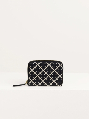 Elia Coin Wallet, Black & Cream