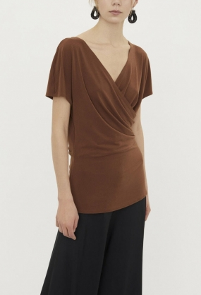 Crepe Top, Terracotta