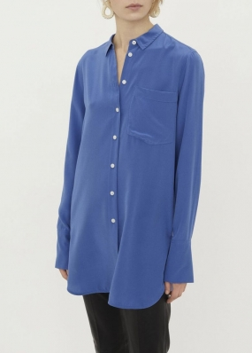 Silk Shirt, Vintage Blue