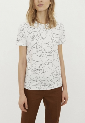Printed T-shirt, Soft White