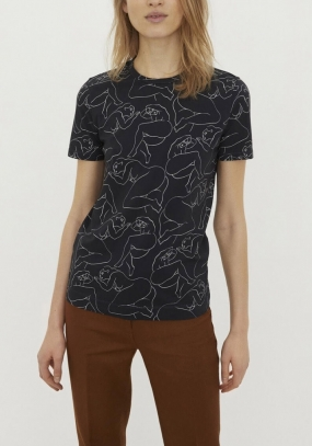 Printed T-shirt, Black