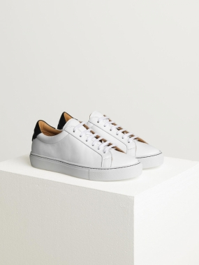 Leather Trainers, Pure White