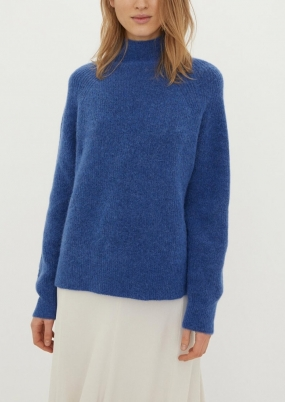 Ribbed Knit Sweater, Vintage Blue