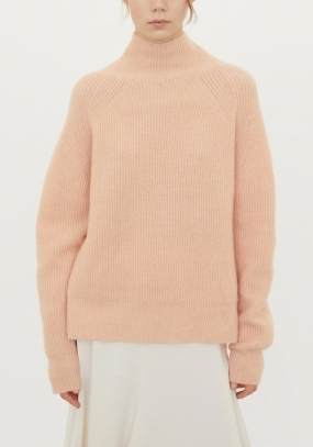 Ribbed Knit Sweater, Pink Sand