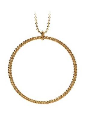 Big Twisted Necklace Gold Plated